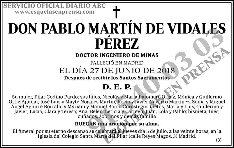 Pablo Martín de Vidales Pérez